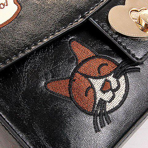 Hot Cute Chains and Cartoon Pattern Design Crossbody Bag For Women -   Mobile