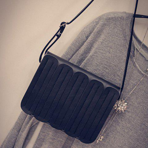 Hot Trendy Solid Colour and Stitching Design Crossbody For Women -   Mobile