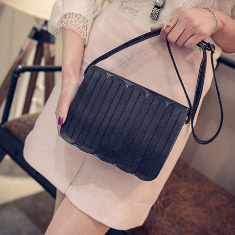 Shop Trendy Solid Colour and Stitching Design Crossbody For Women -   Mobile