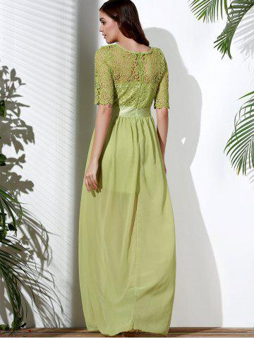 Elegant Half Sleeve Cut Out Lace Spliced Solid Color Maxi Dress For Women от Rosegal.com INT