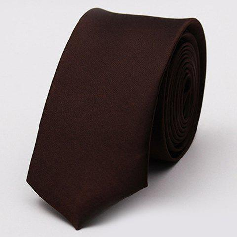 Stylish Various Candy Colors 5CM Width Tie For Men - Deep Brown