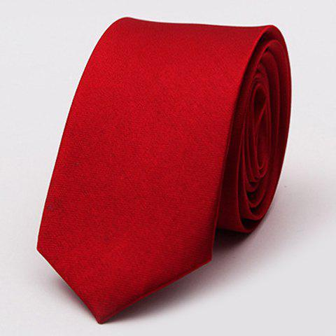 Sale Stylish Various Candy Colors 5CM Width Tie For Men DEEP RED