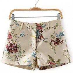 Zip Fly Floral Shorts -