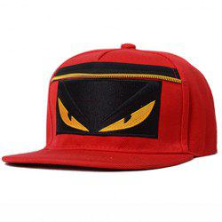 Chic Cartoon Embroidery and Zipper Embellished Baseball Cap For Women -