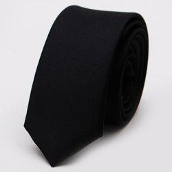 Stylish Various Candy Colors 5CM Width Tie For Men - BLACK