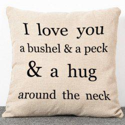 Fashion Letters Pattern Simple Style Flax Pillow Case(Without Pillow Inner) - APRICOT