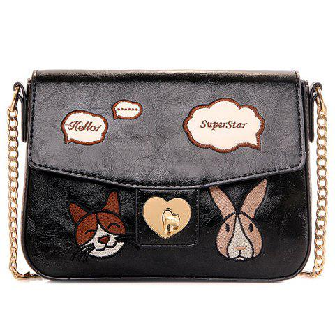 Hot Cute Chains and Cartoon Pattern Design Crossbody Bag For Women