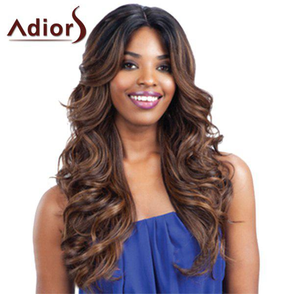 Attractive Long Centre Parting Capless Fluffy Wavy Black Ombre Dark Brown Synthetic Wig For WomenHAIR<br><br>Color: OMBRE 1211#; Type: Full Wigs; Cap Construction: Capless; Style: Wavy; Material: Synthetic Hair; Bang Type: None; Length: Long; Length Size(CM): 65; Weight: 0.350 kg; Package Contents: 1 x Wig;