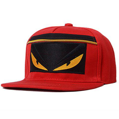 Cheap Chic Cartoon Embroidery and Zipper Embellished Baseball Cap For Women