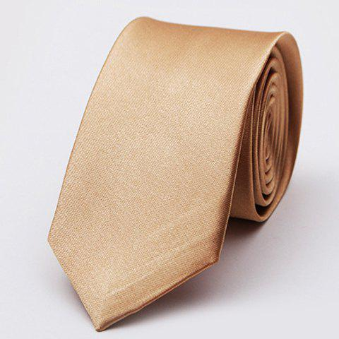 Stylish Various Candy Colors 5CM Width Tie For MenACCESSORIES<br><br>Color: CHAMPAGNE GOLD; Type: Neck Tie; Group: Adult; Tie Type: Neck Tie; Style: Fashion; Pattern Type: Solid; Material: Polyester; Width(CM): 5CM; Length(CM): 140CM; Weight: 0.060kg; Package Contents: 1 x Tie;