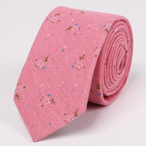 Stylish Tiny Floral Pattern 6.5CM Width Tie For Men - PINK