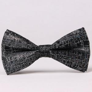 Stylish Sequins Embellished Solid Color Bow Tie For Men - Black - 2xl
