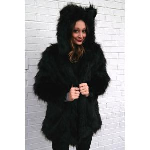 Hooded Faux Fur Bear Coat -