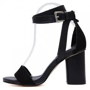 Trendy Suede and Buckle Strap Design Sandals For Women -