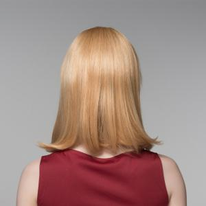 Attractive Straight Tail Adduction Capless Vogue Medium Side Bang Human Hair Wig For Women -