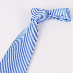 Stylish Slender Stripe Pattern 8.5CM Width Blue Tie For Men - BLUE