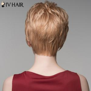 Assorted Color Fashion Side Bang Capless Fluffy Wavy Short Human Hair Wig For Women -