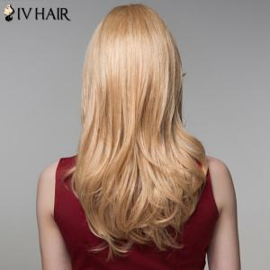 Outstanding Long Side Bang Fluffy Wave Capless Real Human Hair Wig For Women -