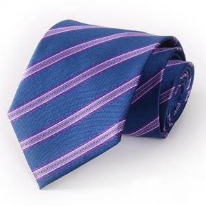 Stylish Purple Twill Pattern 8.5CM Width Deep Blue Tie For Men