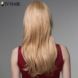 Ladylike Side Bang Capless Fluffy Wavy Long Human Hair Wig -
