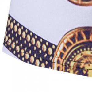 Loose Fit Golden Thongs Print Short Sleeves Round Neck T-Shirt For Men -