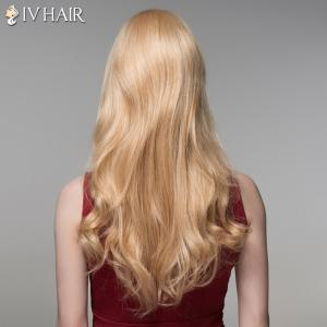 Trendy Full Bang Human Hair Long Curly Wig For Women -