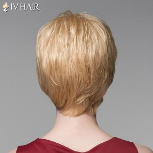 Trendy Side Bang Human Hair Short Straight Wig For Women -