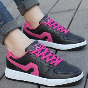 Fashion Lace-Up et Color Matching design Sneakers pour les femmes -