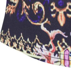 Tribal Pattern Print Short Sleeves Round Neck T-Shirt For Men - COLORMIX 2XL