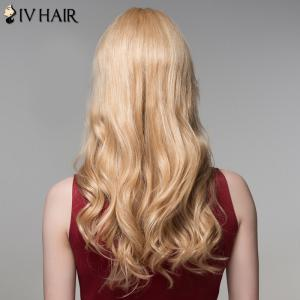 Fluffy Inclined Bang Human Hair Curly Long Wig For Women -