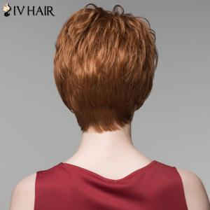 Fluffy Inclined Bang Human Hair Curly Short Wig For Women -