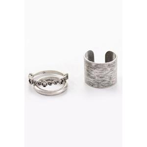 A Suit of Alloy Rose Rings -