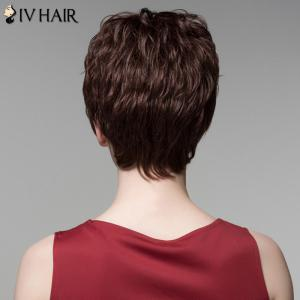 Fluffy Neat Bang Human Hair Curly Short Wig For Women -