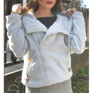 Chic Long Sleeve Pure Color Hoodie For Women
