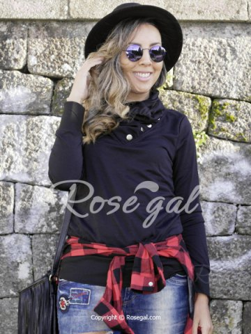 Casual Cowl Neck Solid Color Long Sleeve Sweatshirt For Women от Rosegal.com INT