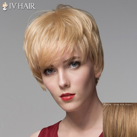 Outfits Trendy Side Bang Human Hair Short Straight Wig For Women