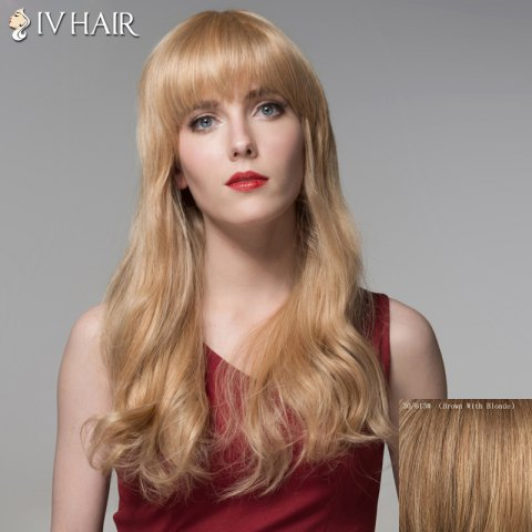 Latest Trendy Full Bang Human Hair Long Curly Wig For Women