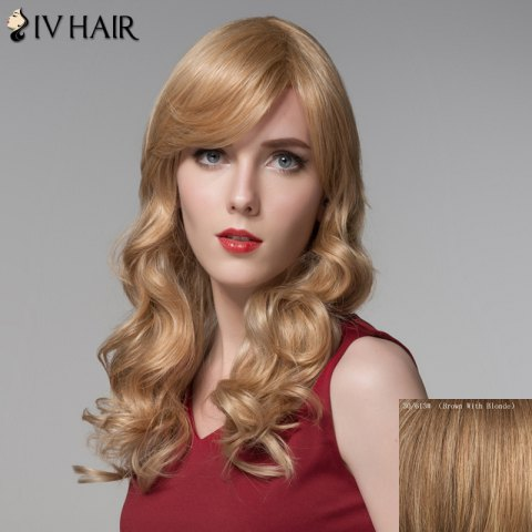 Best Fashion Side Bang Curly Human Hair Long Wig For Women