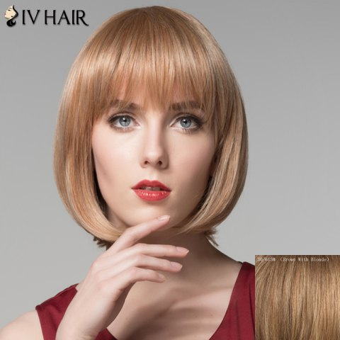 Affordable Attractive Full Bang Capless Bob Style Straight Short Human Hair Wig For Women