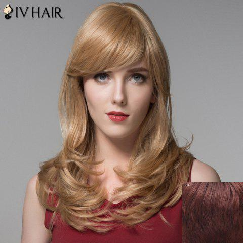 Outfits Outstanding Long Side Bang Fluffy Wave Capless Real Human Hair Wig For Women