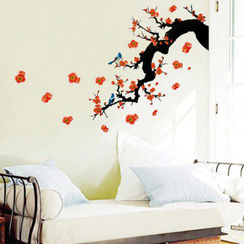 Best Fashion Floral Plant Pattern Bedroom Decoration TV Background Wall Stickers