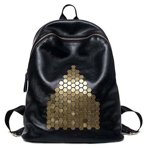 Latest Casual Metal and Black Design Satchel For Women