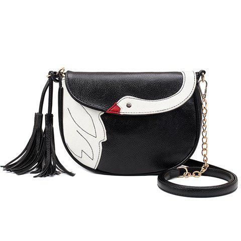 Hot Cute Tassels and Swan Pattern Design Crossbody Bag For Women