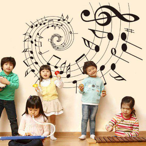 Discount Removable Bedroom Decoration Music Note Wall Stickers