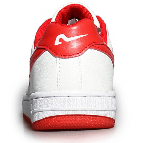 Unique Fashion Lace-Up and Color Matching Design Sneakers For Women - 40 RED WITH WHITE Mobile