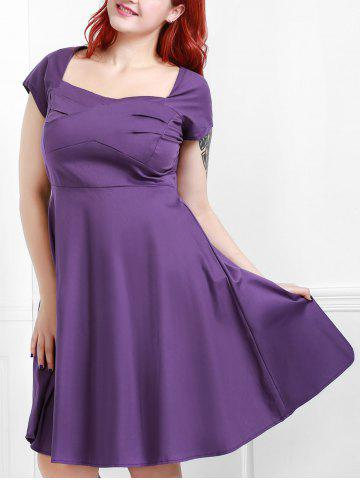 Hot Vintage Sweetheart Neck Plus Size Bridesmaid  Dress PURPLE 2XL