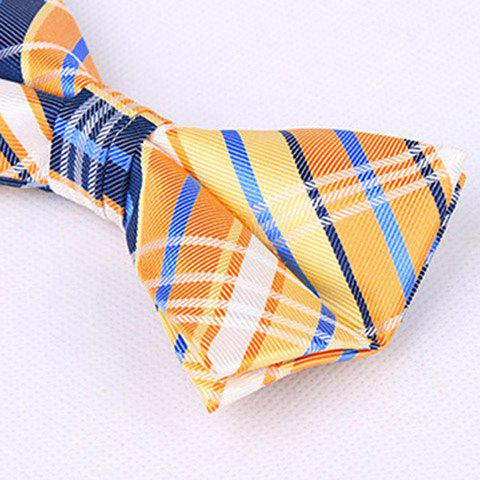 Online Stylish Tartan Check Pattern Bow Tie For Men - RED  Mobile