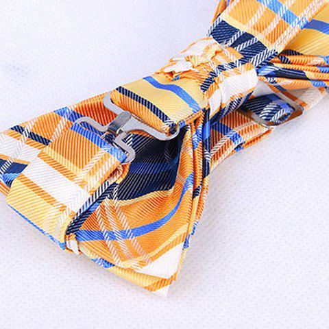 Latest Stylish Tartan Check Pattern Bow Tie For Men - RED  Mobile