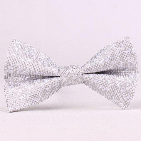 Shops Stylish Jacquard Embellished Bow Tie For Men LIGHT GRAY