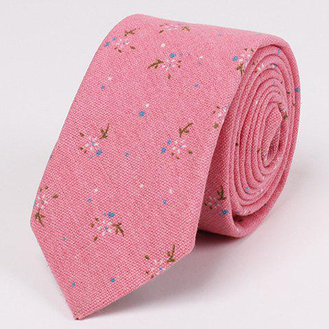 New Stylish Tiny Floral Pattern 6.5CM Width Tie For Men - PINK  Mobile